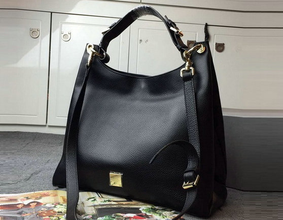 2015 Autumn/Winter Mulberry Freya Hobo Bag Black Goat Printed Calf