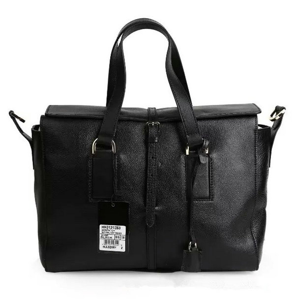 2015 Autumn/Winter Mulberry Roxette Satchel Black Calfskin Leather