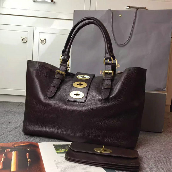 2015 Cheap Mulberry Brynmore Shopping Tote Chocolate Natural Leather