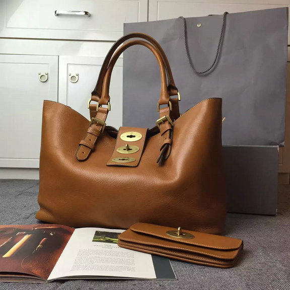 2015 Cheap Mulberry Brynmore Shopping Tote Oak Natural Leather