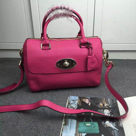 2015 New Mulberry Del Rey Bag in Mulberry Pink Leather