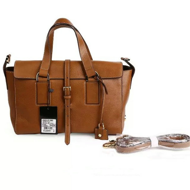 2015 Autumn/Winter Mulberry Small Roxette Satchel Camel Calfskin Leather