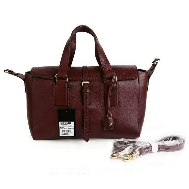 2015 Autumn/Winter Mulberry Small Roxette Satchel Oxblood Calfskin Leather