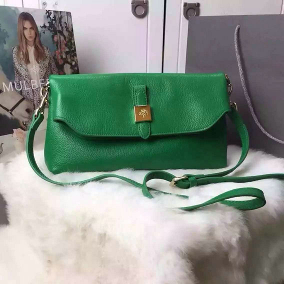 2015 S/S Mulberry Tessie Shoulder Bag in Green Soft Grain Leather