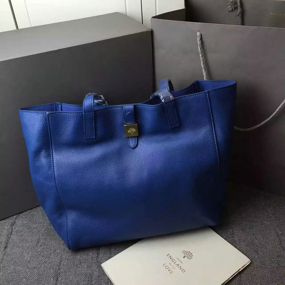 60c4cf580e netherlands 2015 new mulberry tessie tote bag in blue soft leather 934fe  e5231