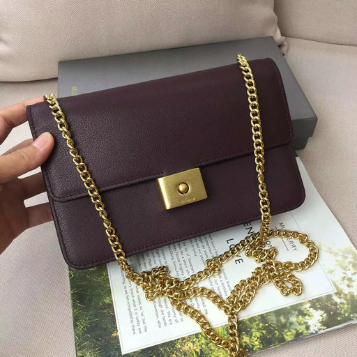 2016 Latest Mulberry Cheyne Clutch Burgundy Smooth Calf Leather