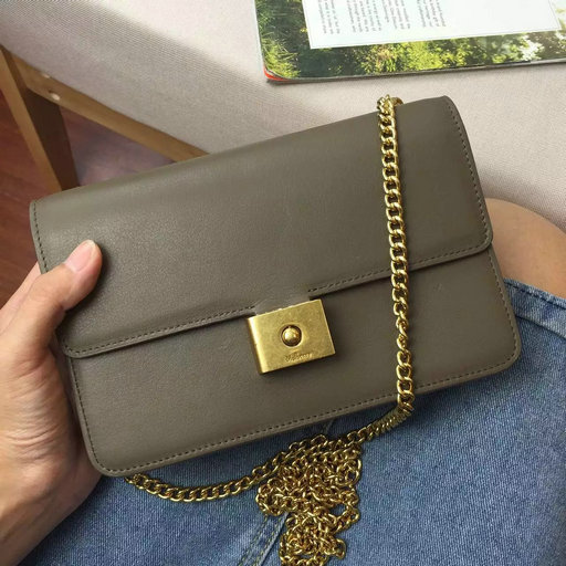 2016 Latest Mulberry Cheyne Clutch Clay Smooth Calf Leather