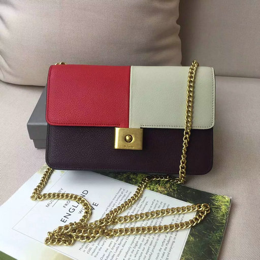 2016 Latest Mulberry Cheyne Clutch Rust,Dune & Burgundy Smooth Calf