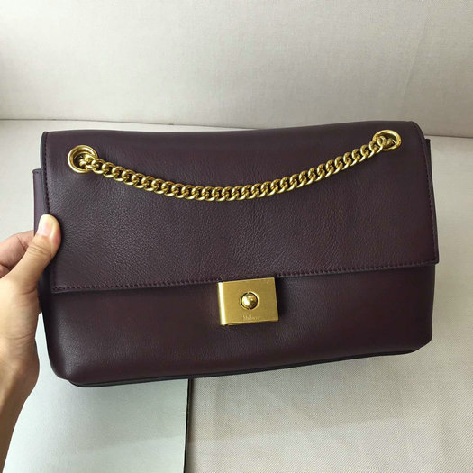 2016 Latest Mulberry Cheyne Shoulder Bag Burgundy Smooth Calf Leather