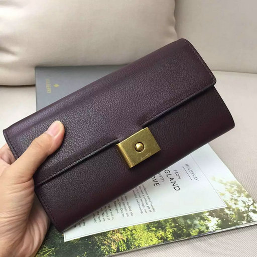 2016 Latest Mulberry Cheyne Wallet Burgundy Calf Leather