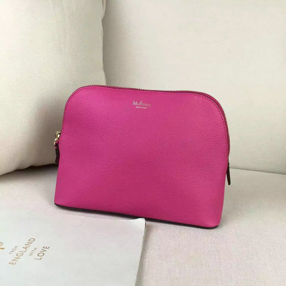2016 Latest Mulberry Cosmetic Pouch Hot Pink Small Classic Grain