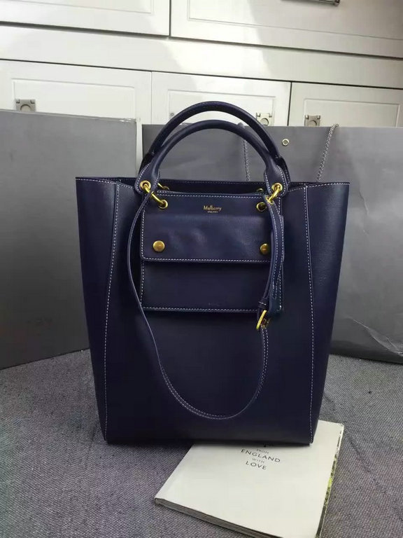 2016 Fall/Winter Mulberry Maple Tote Bag Midnight Sleek Calf