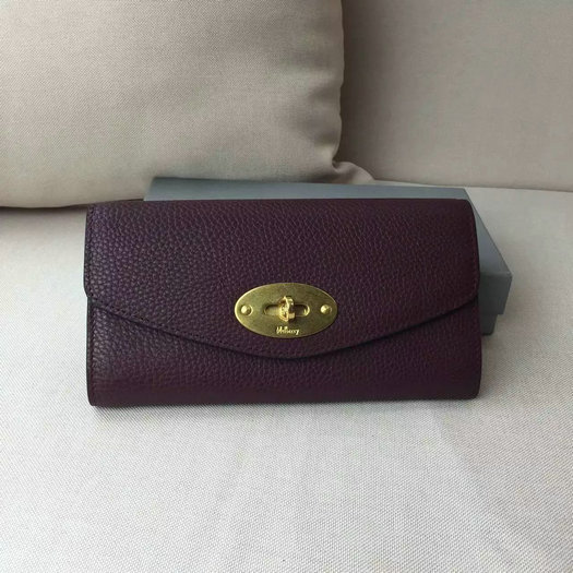 2016 Latest Mulberry Postman's Lock Long Wallet Oxblood Grain Leather