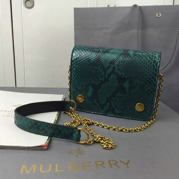 2016 Latest Mulberry Small Clifton Crossbody Bag Emerald Python & Nappa Leather