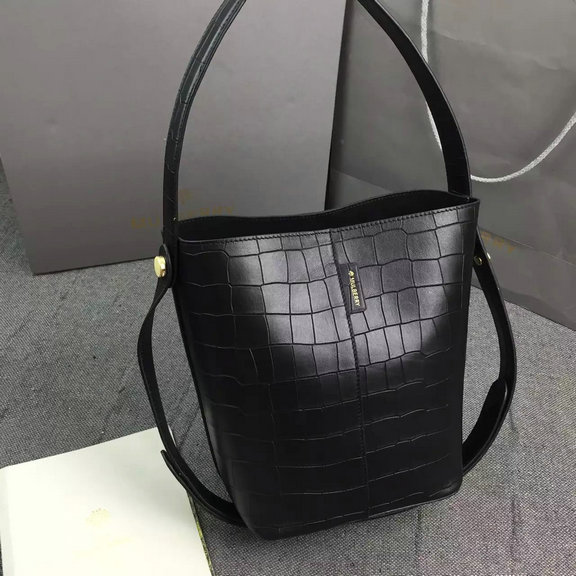 2016 Latest Mulberry Small Kite Tote in Black Croc Leather