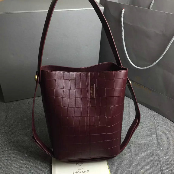 2016 Latest Mulberry Small Kite Tote in Oxblood Croc Leather