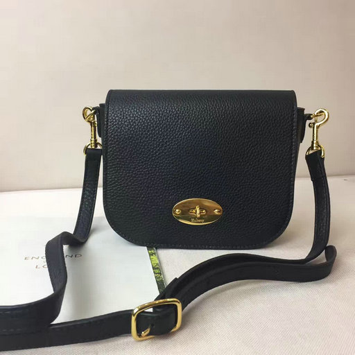 2017 S/S Mulberry Small Darley Satchel in Black Small Classic Grain Leather