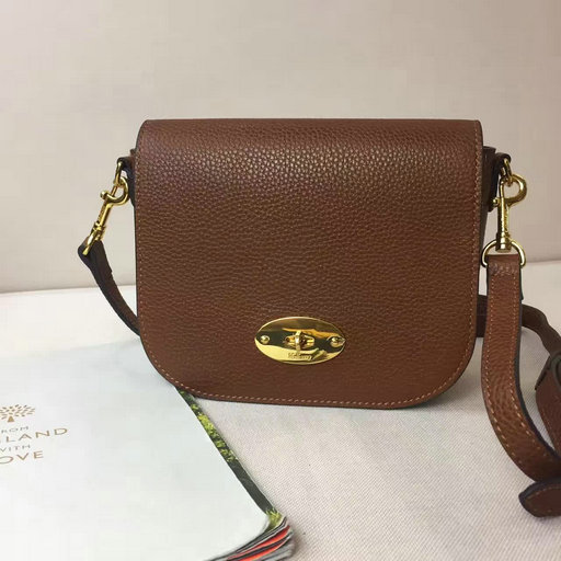 2017 S/S Mulberry Small Darley Satchel in Oak Small Classic Grain Leather