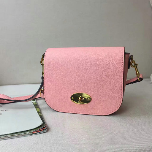 2017 S S Mulberry Small Darley Satchel in Macaroon Pink Small Classic Grain  Leather a7d425f014bfe