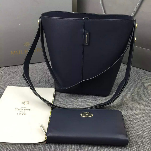 2016 Latest Mulberry Small Kite Tote in Midnight Flat Calf Leather