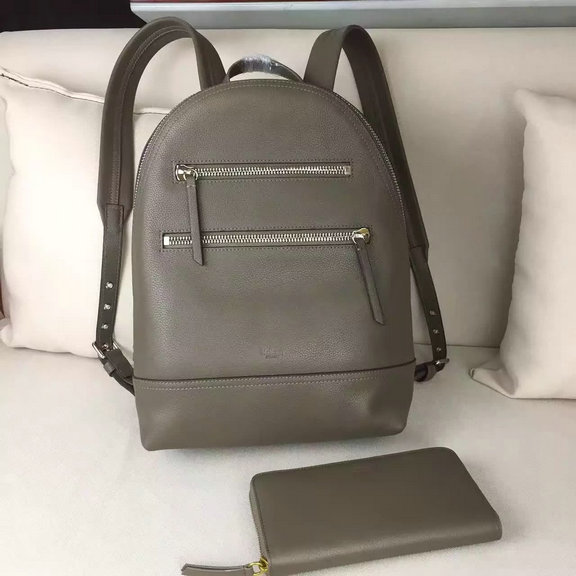 2016 Latest Mulberry Zip Backpack in Clay Small Grain Leather