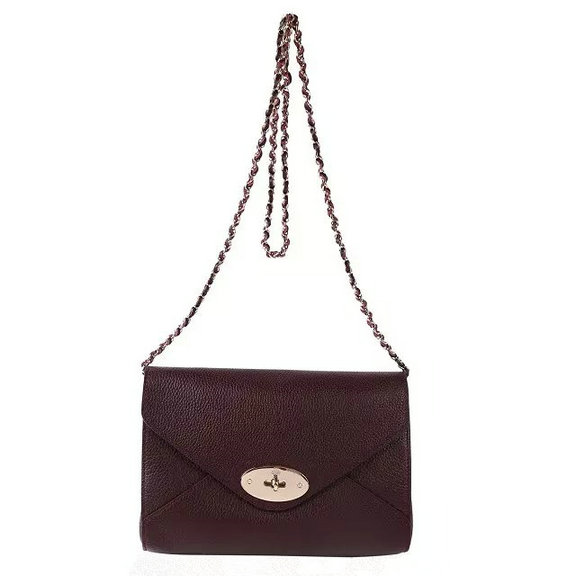 2016 Spring Summer Mulberry Envelope Crossbody/Shoulder Bag in Oxblood Small Grain Leather
