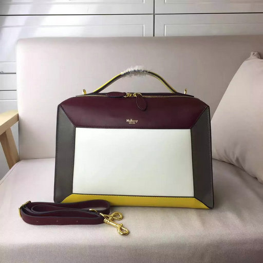 2017 Cheap Mulberry Hopton Crimson,Chalk,Clay & Sunflower Smooth Calf