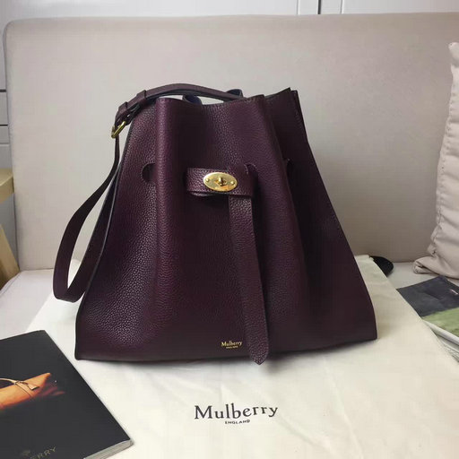 2017 Cheap Mulberry Tyndale Bucket Bag Burgundy Small Classic Grain