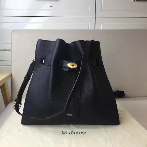 2017 Cheap Mulberry Tyndale Bucket Bag Black Small Classic Grain