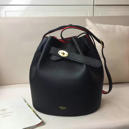 a760727be3bb ... promo code for 2017 spring summer mulberry abbey bucket bag in black  scarlet grain leather 6acd6