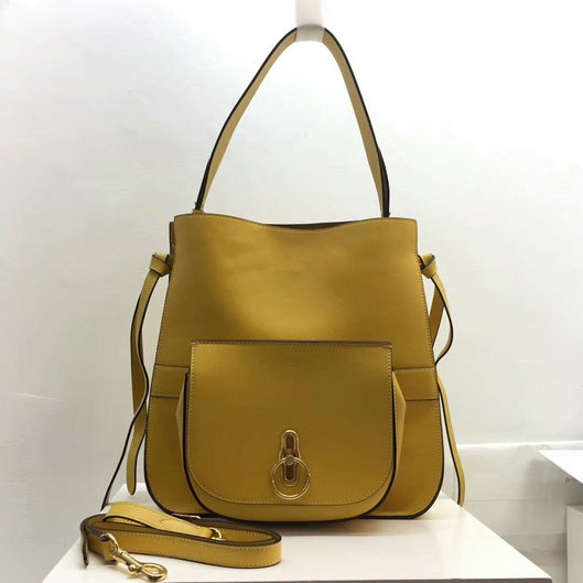 2017 Cheap Mulberry Amberley Hobo Gold Ochre Silky Calf Leather