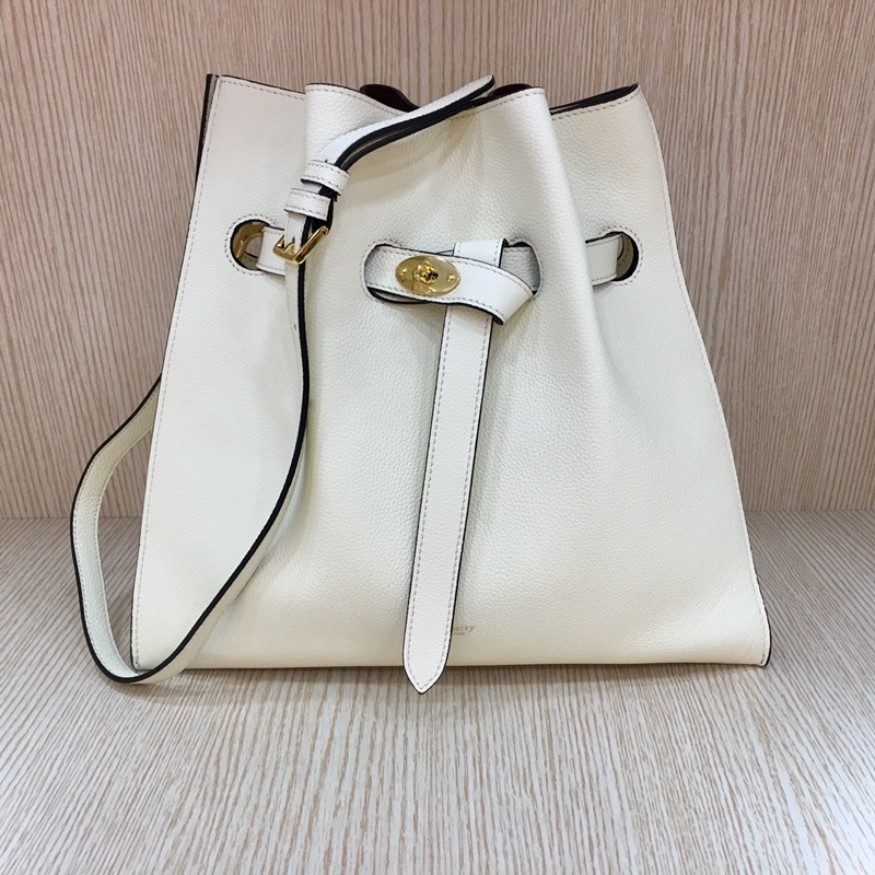 2017 Cheap Mulberry Tyndale Bucket Bag White Small Classic Grain