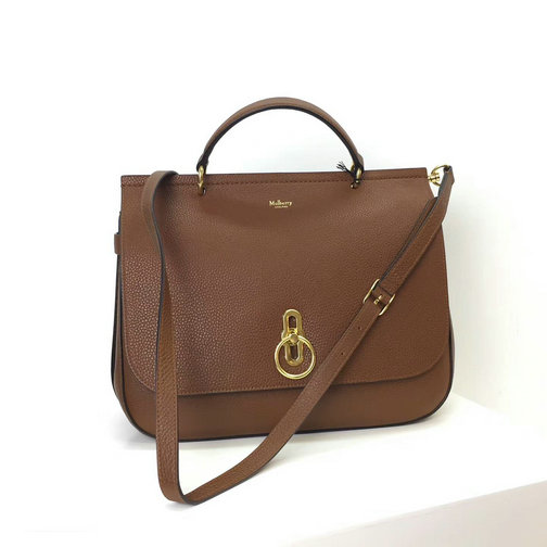 2017 Cheap Mulberry Large Amberley Satchel Oak Grain Leather