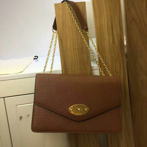 2017 Cheap Mulberry Large Darley Bag in Oak Grain Leather