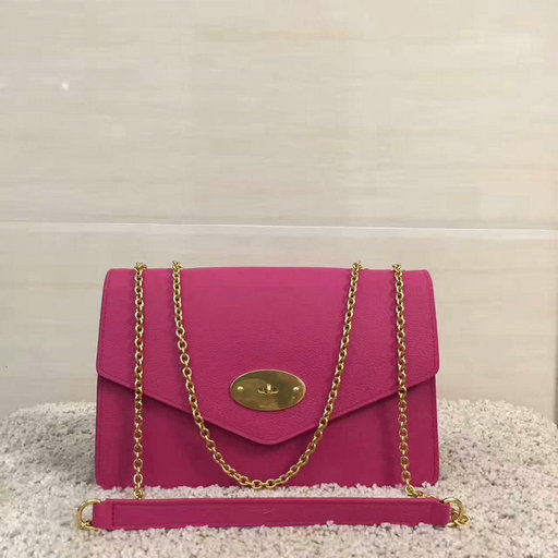 2017 Cheap Mulberry Large Darley Bag in Fuchsia Grain Leather