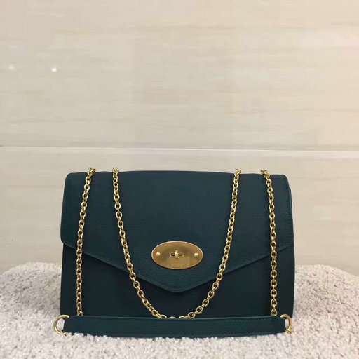 2017 Cheap Mulberry Large Darley Bag in Ocean Green Grain Leather