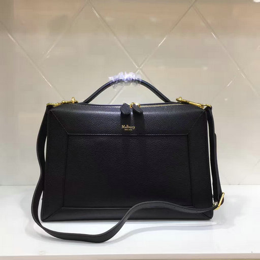 2017 Cheap Mulberry Hopton Black Small Classic Grain Leather