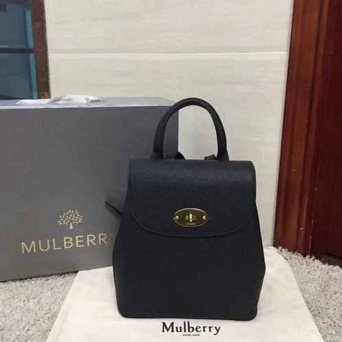2017 A/W Mulberry Mini Bayswater Backpack in Black Grain Leather