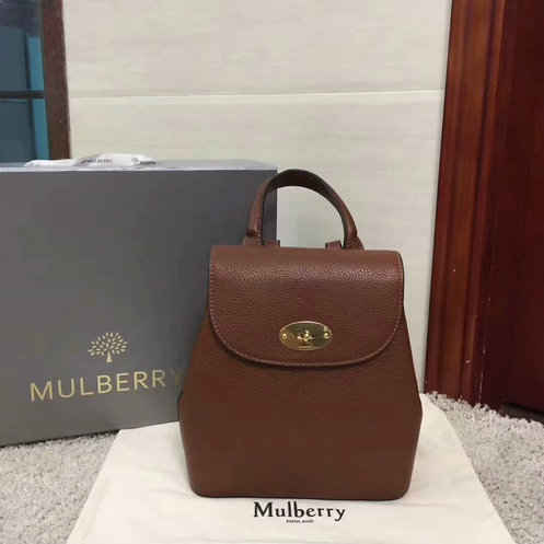 2017 A/W Mulberry Mini Bayswater Backpack in Oak Grain Leather