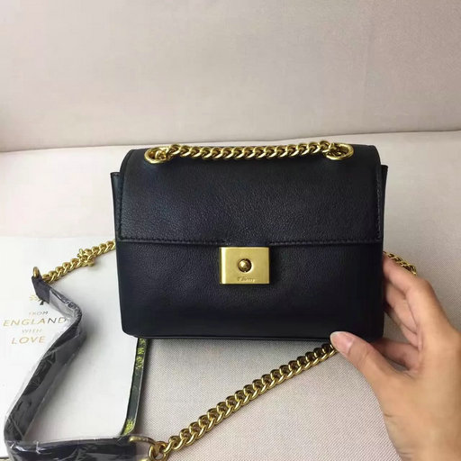 2017 S/S Mulberry Mini Cheyne Bag in Black Smooth Calf Leather
