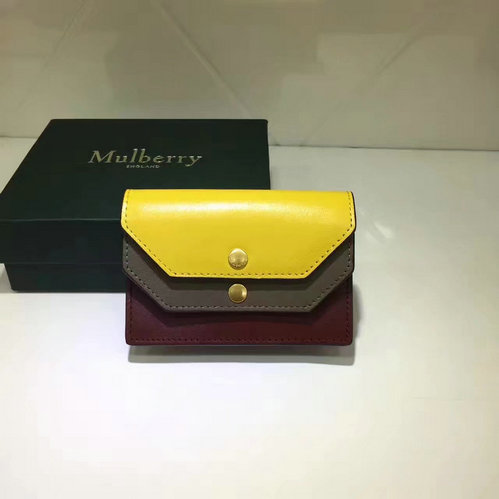 2017 Cheap Mulberry Multiflap Card Case Sunflower, Clay & Crimson Smooth Calf