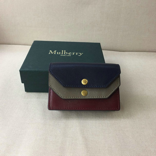 2017 Cheap Mulberry Multiflap Card Case in Calf Leather