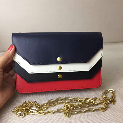 2017 Cheap Mulberry Multiflap Clutch Midnight,Chalk,Black & Fiery Red Smooth Calf