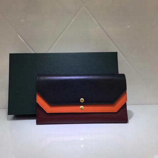 2017 Cheap Mulberry Multiflap Wallet Black,Bright Orange & Crimson Smooth Calf