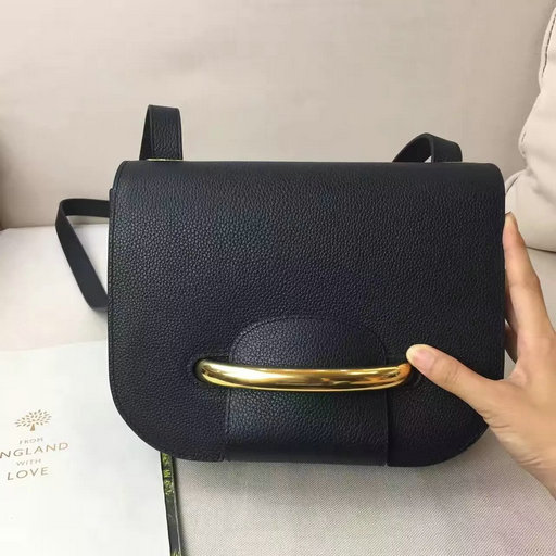 2017 S/S Mulberry Selwood Bag in Black Small Classic Grain Leather