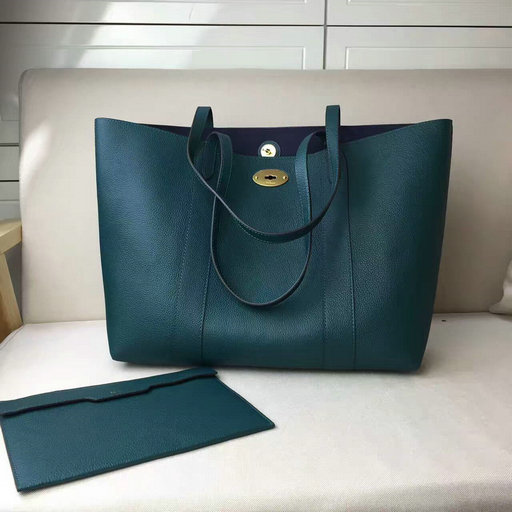 2017 Cheap Mulberry Bayswater Shopping Tote Ocean Green Small Classic Grain