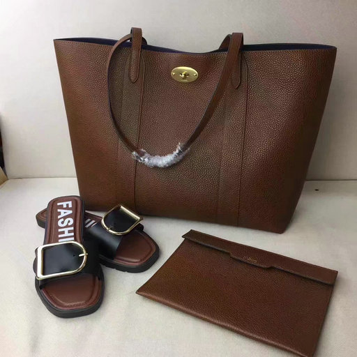 2017 Cheap Mulberry Bayswater Shopping Tote Oak Small Classic Grain