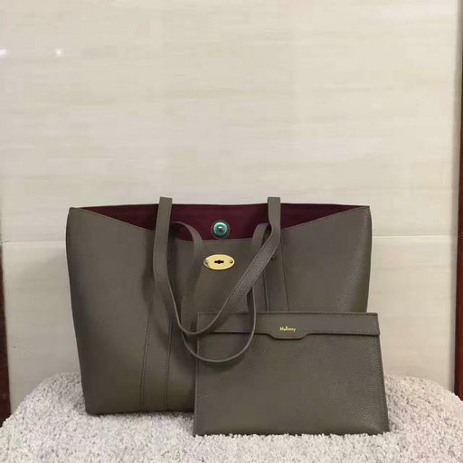 2017 Cheap Mulberry Bayswater Shopping Tote Clay Small Classic Grain