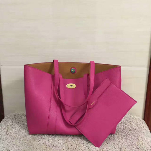 2017 Cheap Mulberry Bayswater Shopping Tote Fuchsia Small Classic Grain