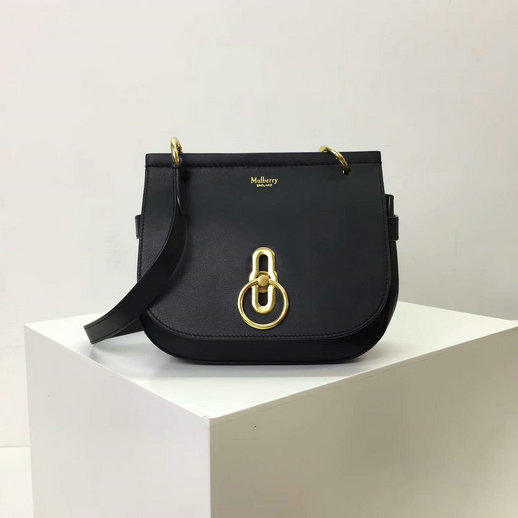 2017 Cheap Mulberry Small Amberley Satchel Black Leather